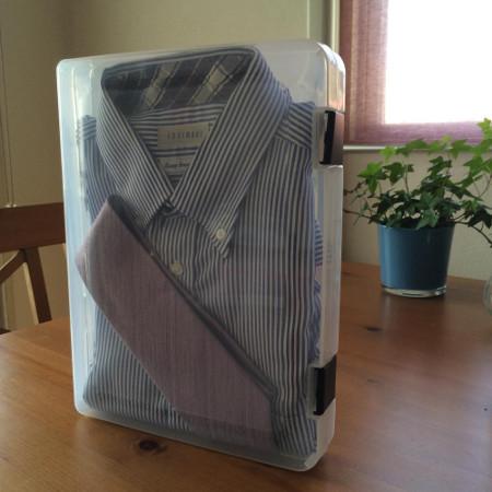 しわが気になるYシャツ・ネクタイもファイルケース収納