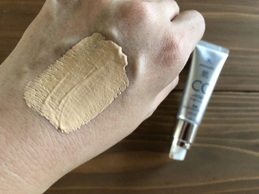 米肌澄肌ホワイトCCクリームのテクスチャー2