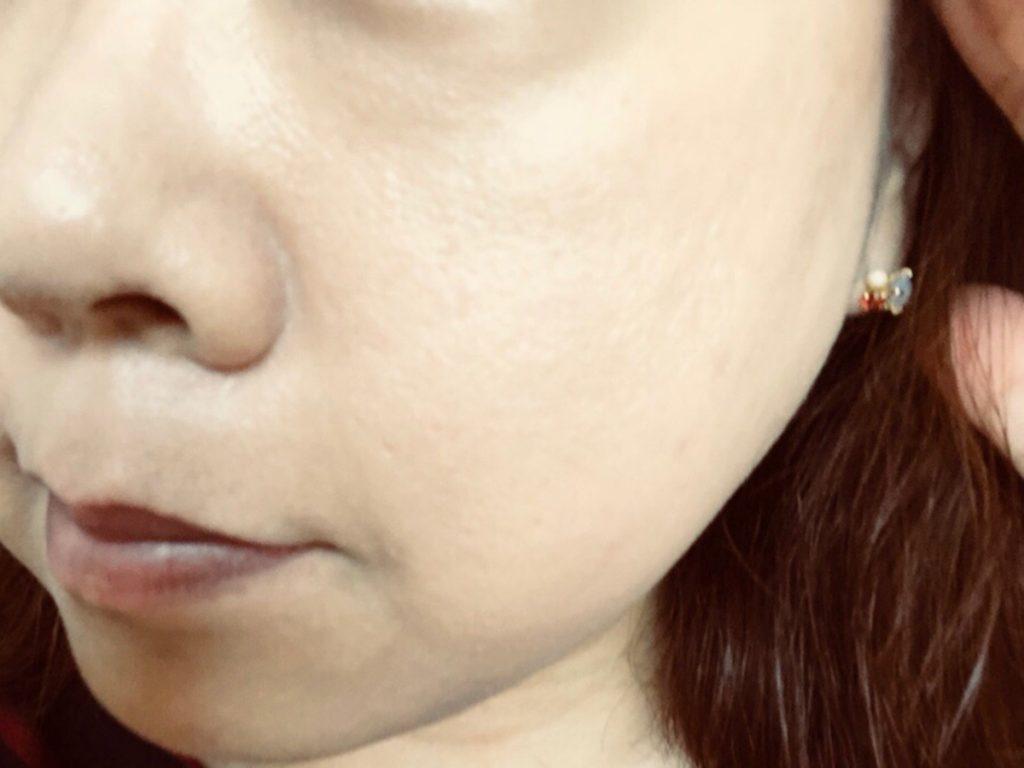米肌澄肌ホワイトCCクリーム口コミ一度塗り3