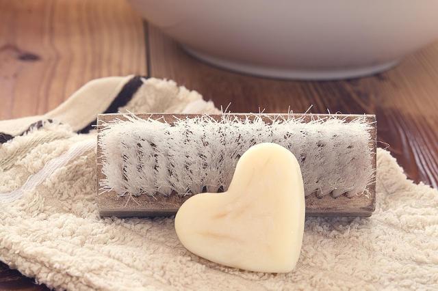 ブラシと石鹸
