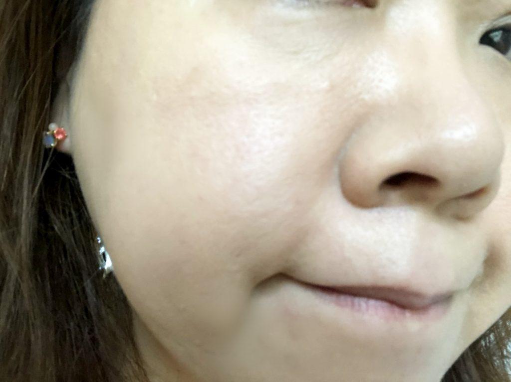 米肌澄肌ホワイトCCクリーム口コミ一度塗り1