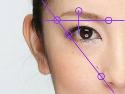 左右対称に書くための眉毛の黄金比