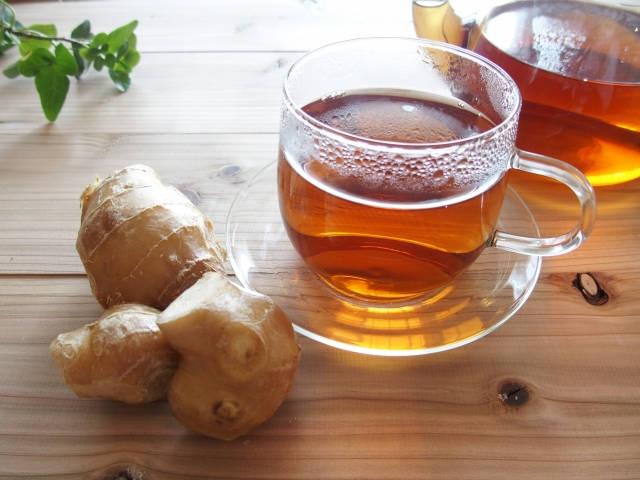 ショウガとお茶