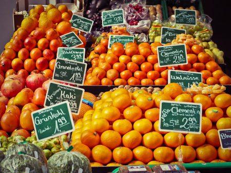 オレンジなどのフルーツ