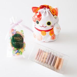 新宿高野「オリジナル招き猫巾着袋」