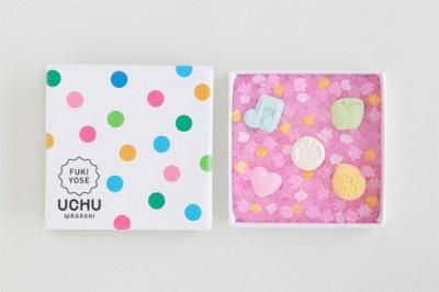UCHU wagashi「fukiyose(白)」