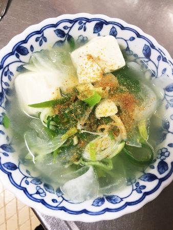 しょうが入り野菜スープ