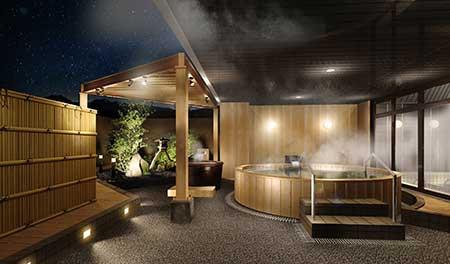 キロロタウンの温泉設備