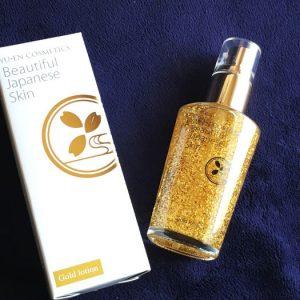 優艶ゴールドローション、噂の金箔入り化粧水を使ってみました